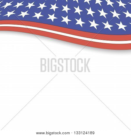 Independence Day of America. American Flag Background.