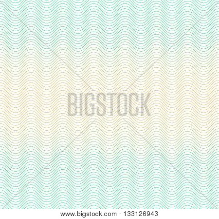 Color gradient background with waves. Guilloche. The protective layer for banknotes, diplomas and certificates