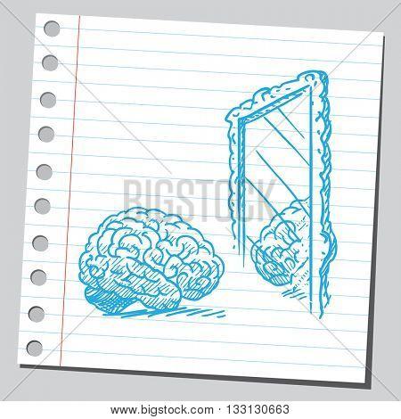 Brain in mirror