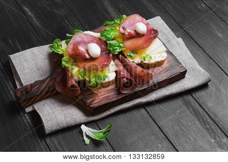 Two Sandwiches Bruschetta