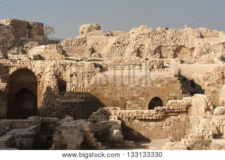 Aleppo Syria. Inner courtyard of the citadel