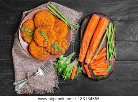 Carrot Cutlets Food Photo