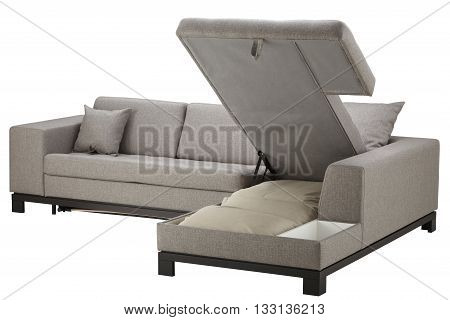 Grey Corner Couch Bed