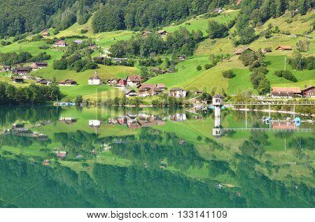 Lungerer lake , Switzerlnd