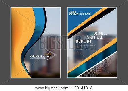 A4 size, abstract flat layout wave and geometric elements marketing business corporate design template. eps10 vector