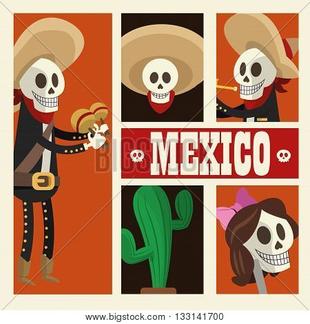 Mexico  concept with culture icon design, vector illustration 10 eps graphic.