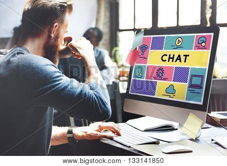 Chat Blog Online Conversation Talk Concept