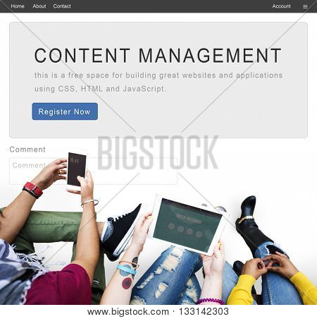 Content Management System Strategy Web Concept