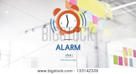 Alarm Clock Wake Up Morning Concept