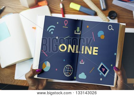 Technology Connection Online Sharing Multimedia Concept