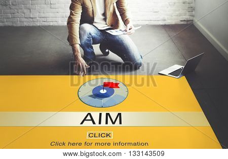 Aim Goal Inspiration Solution Strategy Target Concept