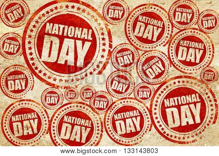national day, red stamp on a grunge paper texture