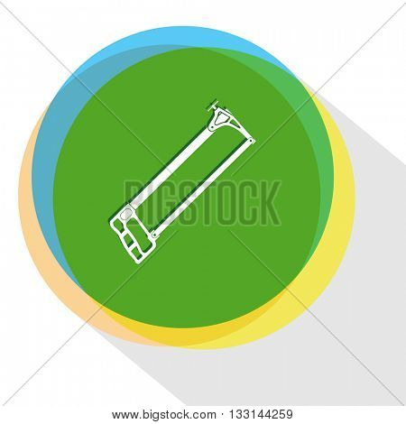 hacksaw. Internet template. Vector icon.