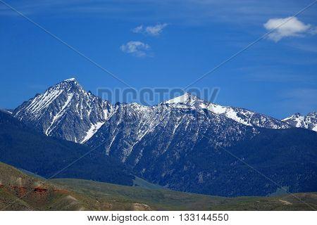 The Beaverhead Mountains provide a beautiful background near Salmon, Idaho.
