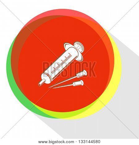 syringe. Internet template. Vector icon.
