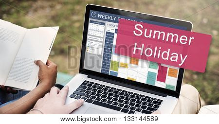 Summer Holiday Season Fun Travel Vacation Concept