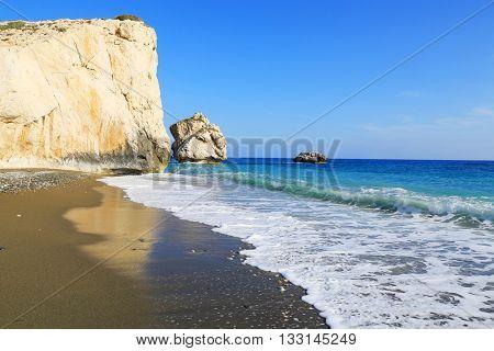 Nice summer landscape on sea. Take it in Cyprus