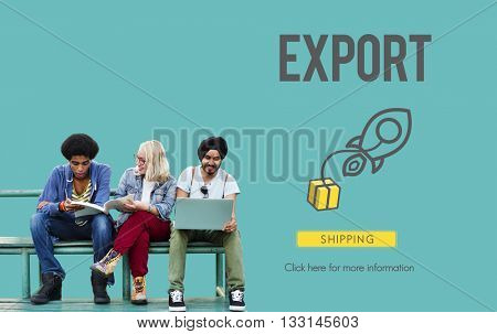 Export Logistic Cargo Freight Manufacturing Concept