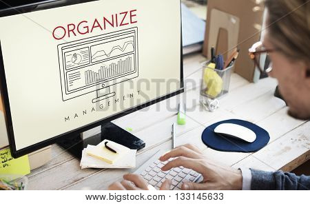 Business Organize Strategy Development Management Concept