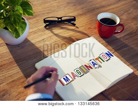 Imagination Creative Word Design Colorful Concept