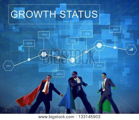 Business Growth Achievement Analytics Strategy Concept