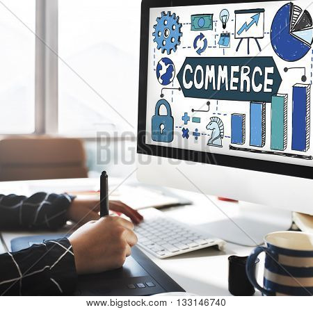 Commerce Marketing Business Strategy Concept