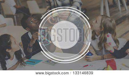 Children Education Class Lens Graphic Concept