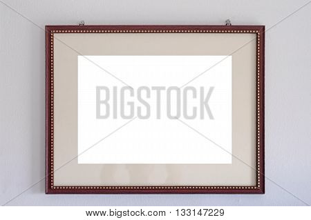 Empty Wooden Picture Frames