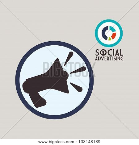 Social Advertising concept with icon design, vector illustration 10 eps graphic.