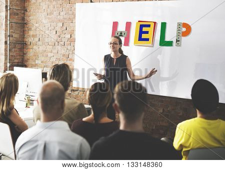 Help Aid Advice Charity Support Service Concept