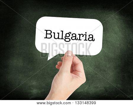Bulgaria written on a speechbubble