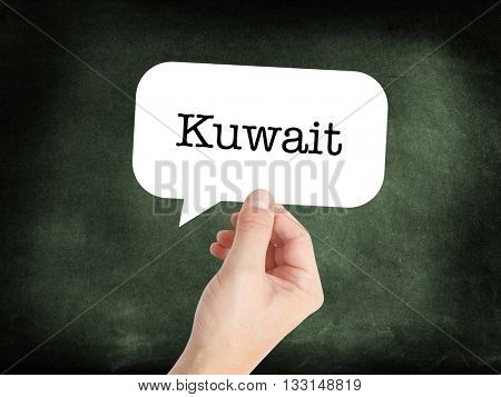 Kuwait concept in a speech bubble