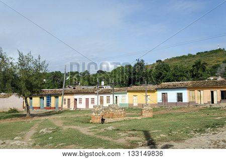 Colourful houses in Trinidad, Cuba