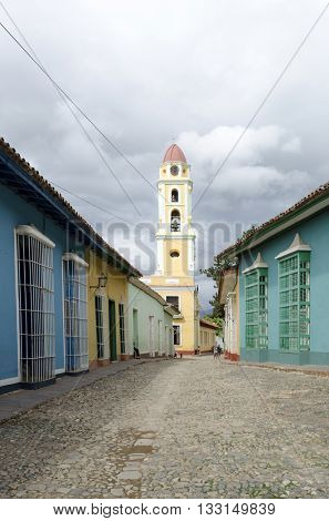 Colourful street in Trinidad, Cuba