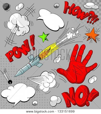Set of comic book explosions for your design