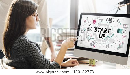 Start up Business Development Enterprise Launch Concept