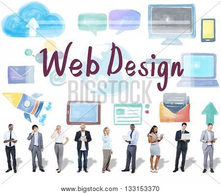 Web Design Programming Software Networking Concept