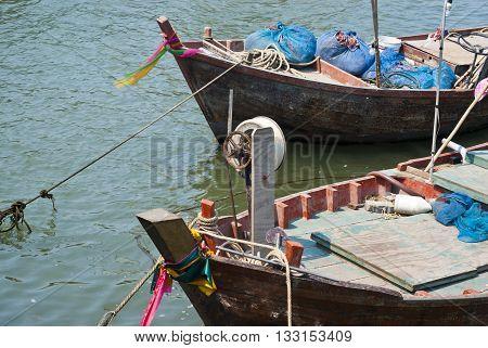 """Duck Boat"" Small fishing boat at thailand"