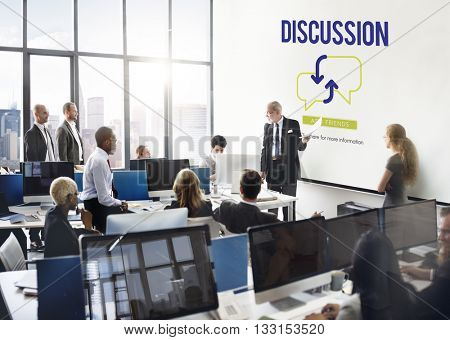 Discussion Sharing Brainstorming Team Concept