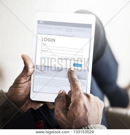 Digital Device Internet Connection Technology Concept