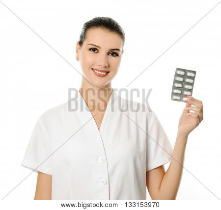 cheerful pharmacist