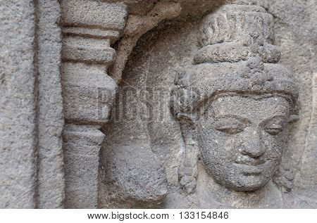 Head Relief at The Corner of Temple 8th - 10th Century