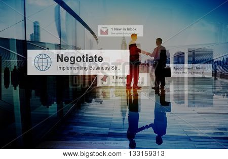 Business People Hand Shake Partnership Teamwork Deal Concept poster