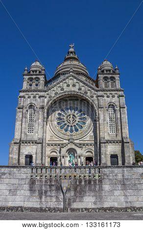 VIANA DO CASTELO, PORTUGAL - APRIL 25, 2016: Santuario de Santa Luzia in Viana do Castelo, Portugal