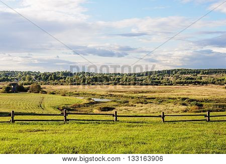 Valley of Soroti river near the village Mikhailovskoye Pushkinskiye Gory Reserve Russia