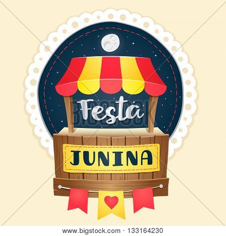 Festa Junina, brazilian june fest cute logo