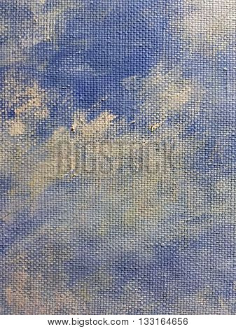 Grunge Blue Textured Abstract Hand Painted Background
