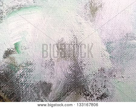 Abstract Textured Colorful Hand Painted Canvas