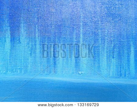 Grunge Textured Abstract Hand Painted Blue Background