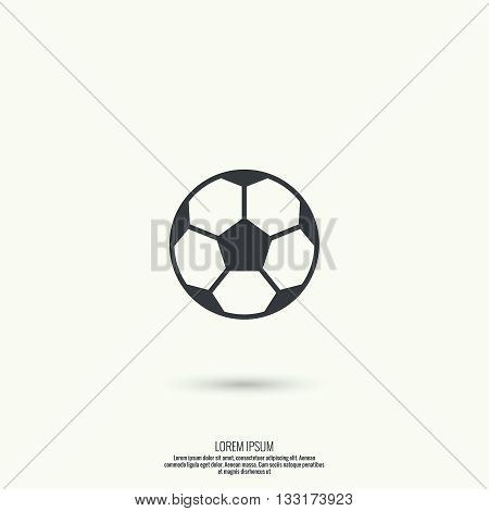 Vector icon of a soccer ball. football. For web and mobile applications.